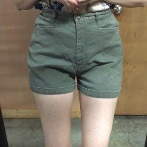 Vintage Olive green HighWaisted shorts